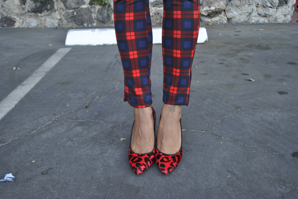 mixing prints red