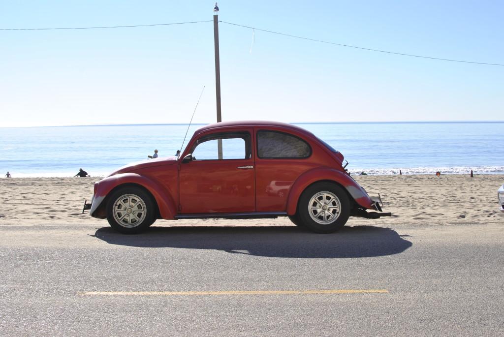 vintage red volkswagon bug