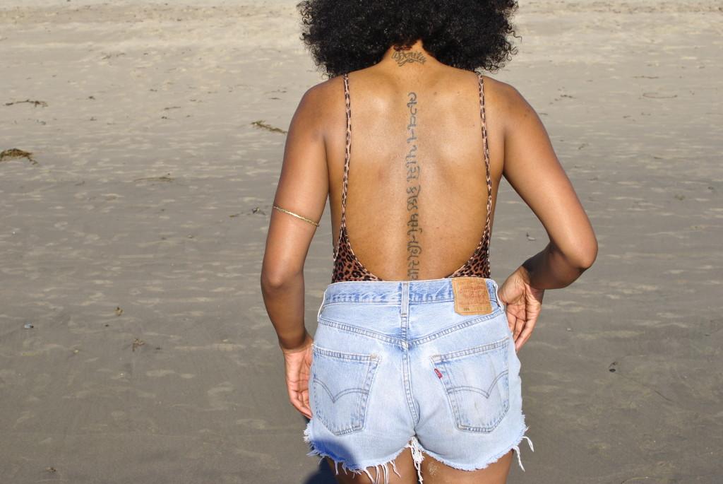 natural hair and tattoos