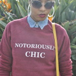 notoriously chic sweatshirt