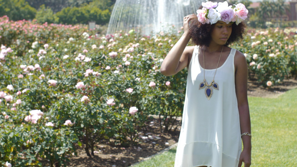 afro flower crown