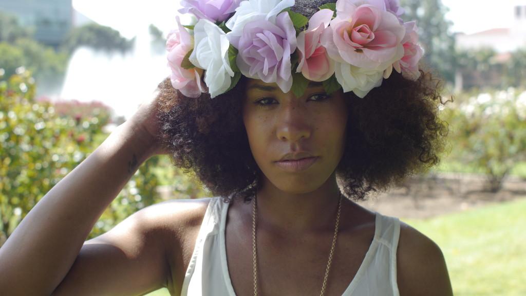 natural hair flower crown