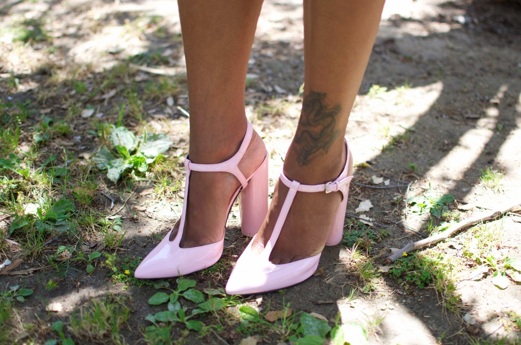 pastel pink shoes