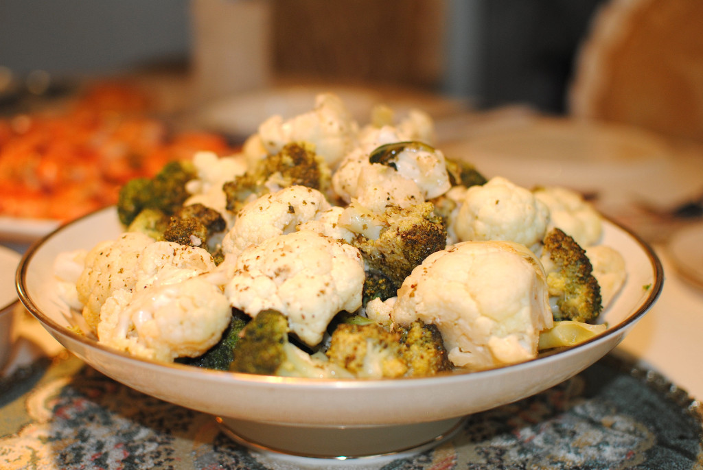 lemon lime brocoli and cauliflower