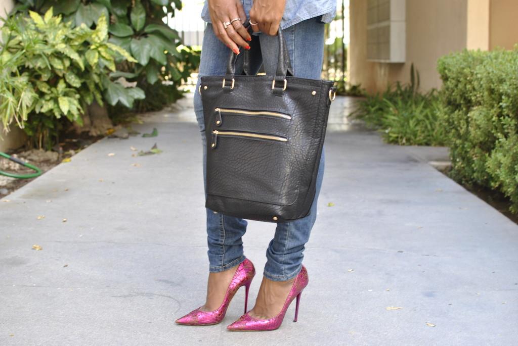 vegan leather black bag