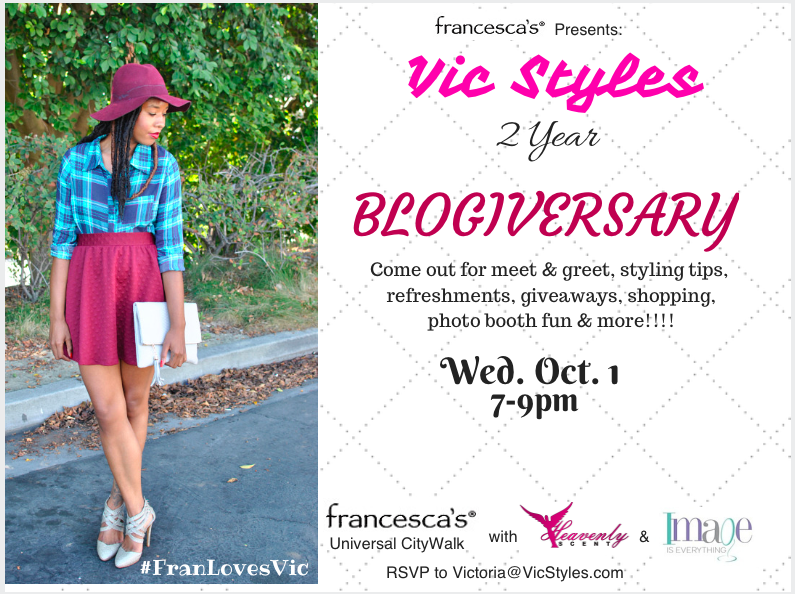 vic styles Blogiversary party flyer
