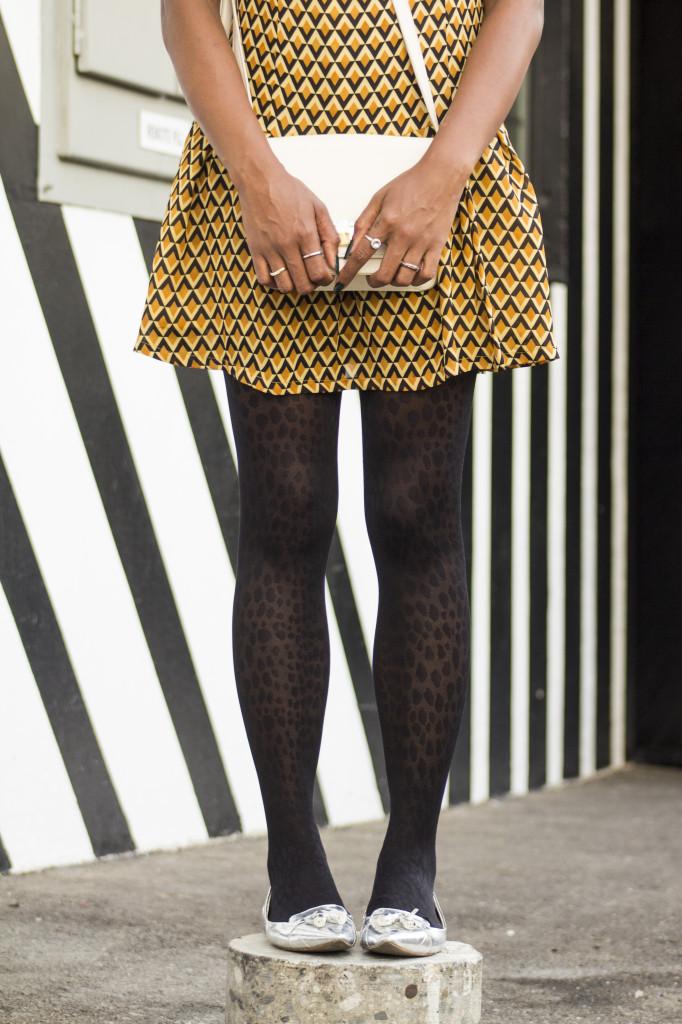 hanes printed tights