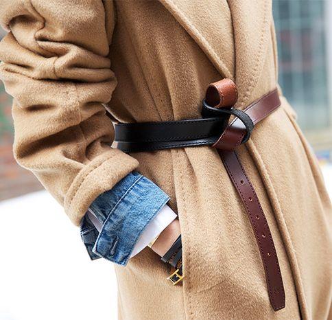 belt winter coat