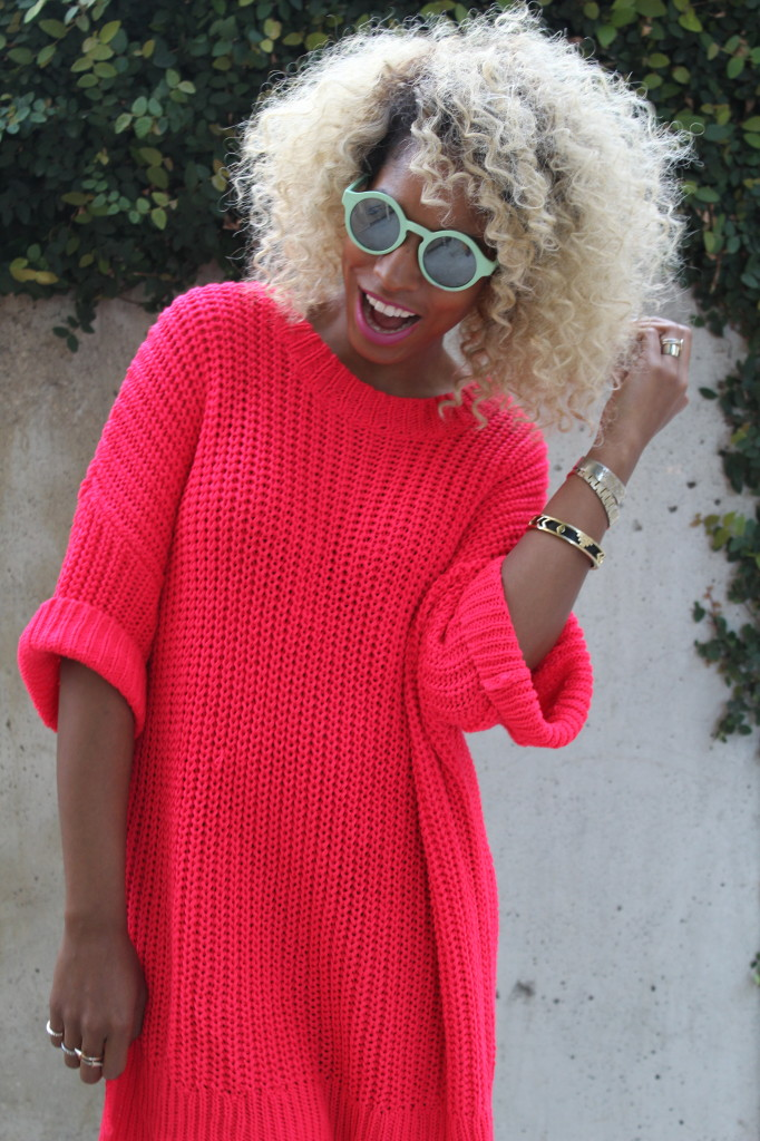 black girl blonde curly hair