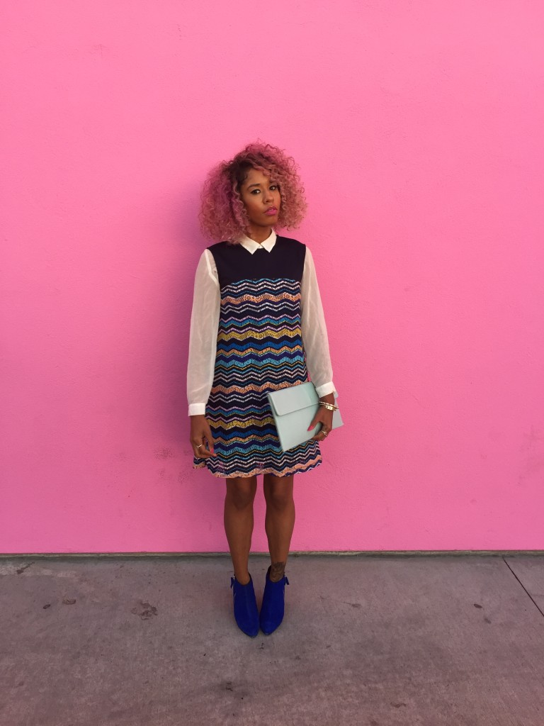 pink hair black girl