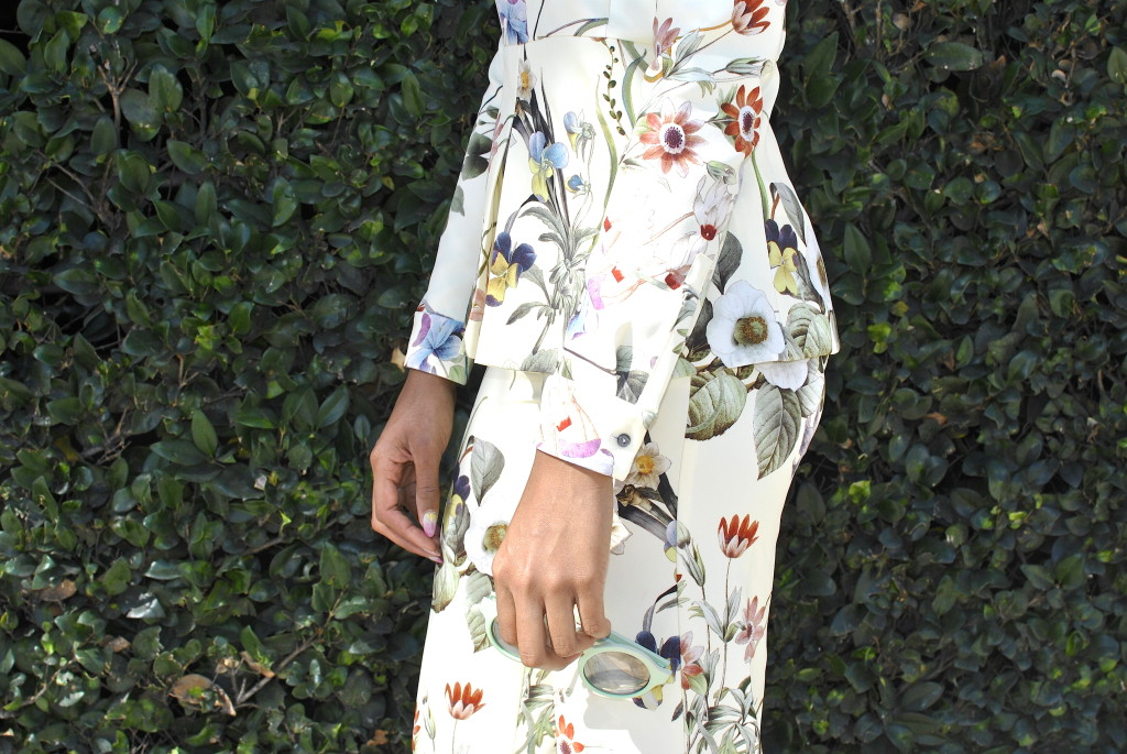 zara floral outfit