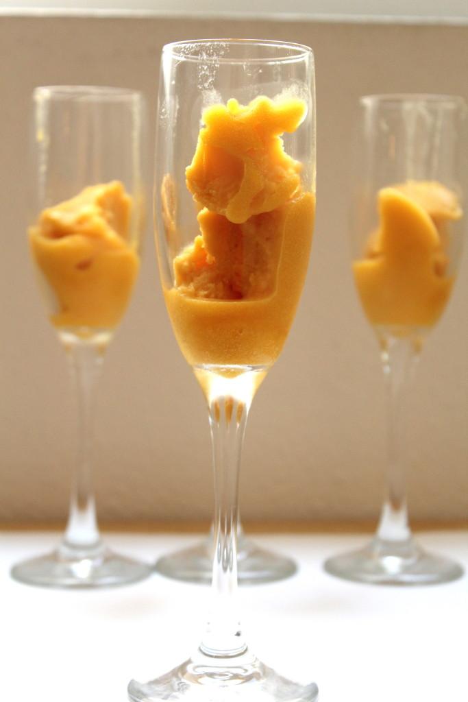 mango sorbet mimosa