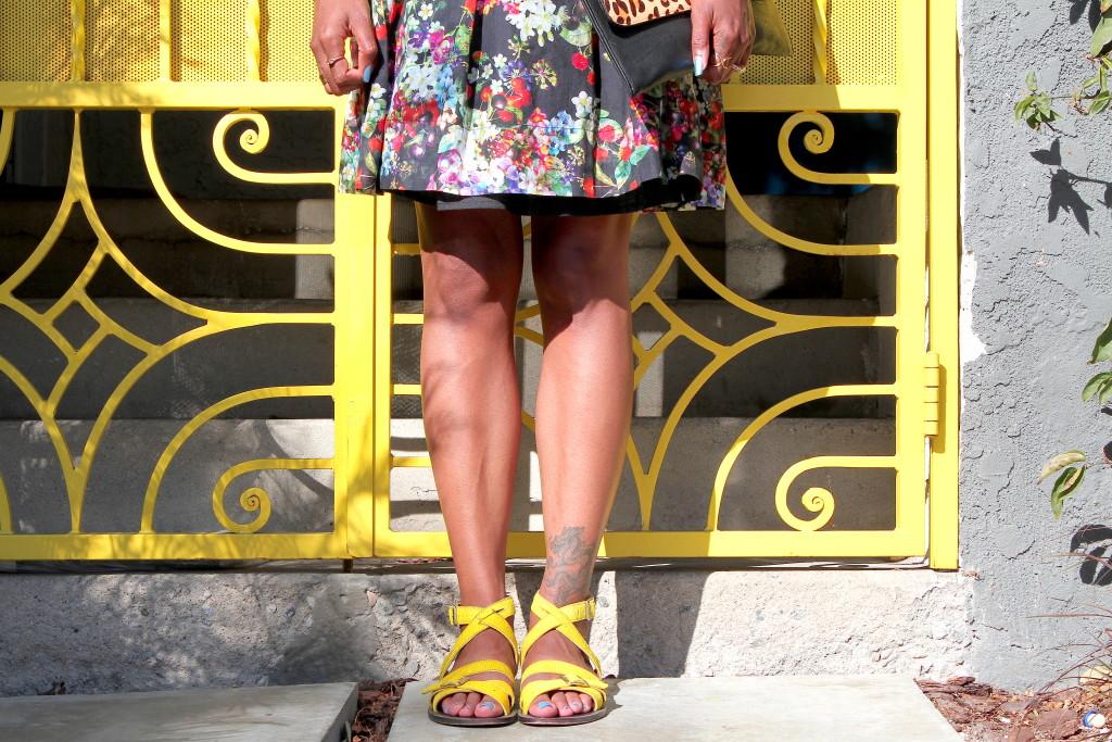 yellow marni sandals