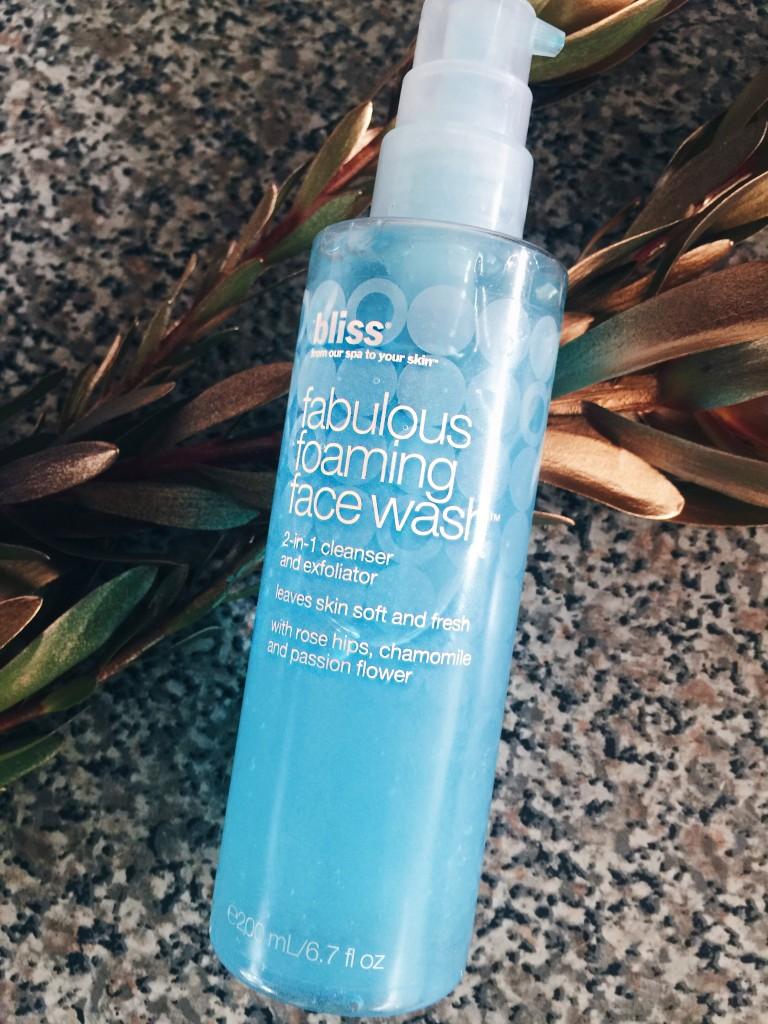 bliss fabulous foaming facewash review