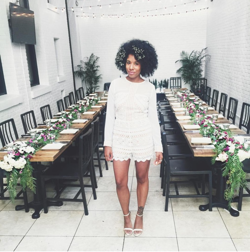 all white brunch birthday party natural hair baby breath