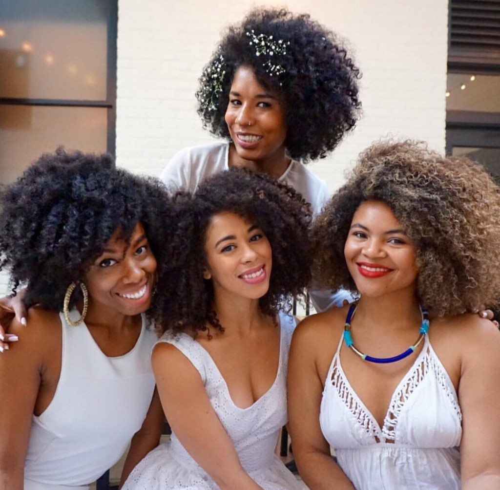 curl friends. curly girls. natural hair friends
