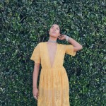 yellow boho chic dress