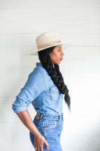 black girl fashion blogger lack of color aus white wide brim fedora