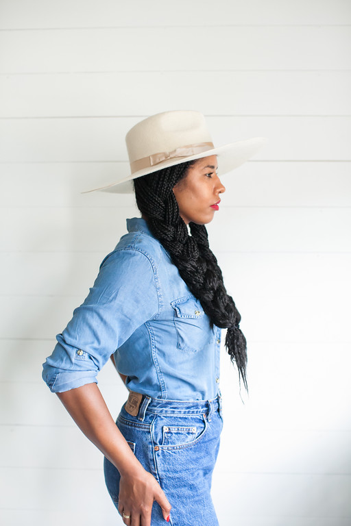 black girl fashion blogger lack of color aus white wide brim fedora