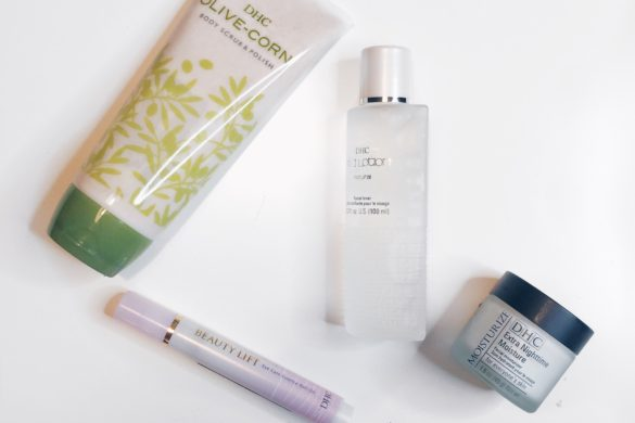 busy week skincare routine. DHC skincare products review