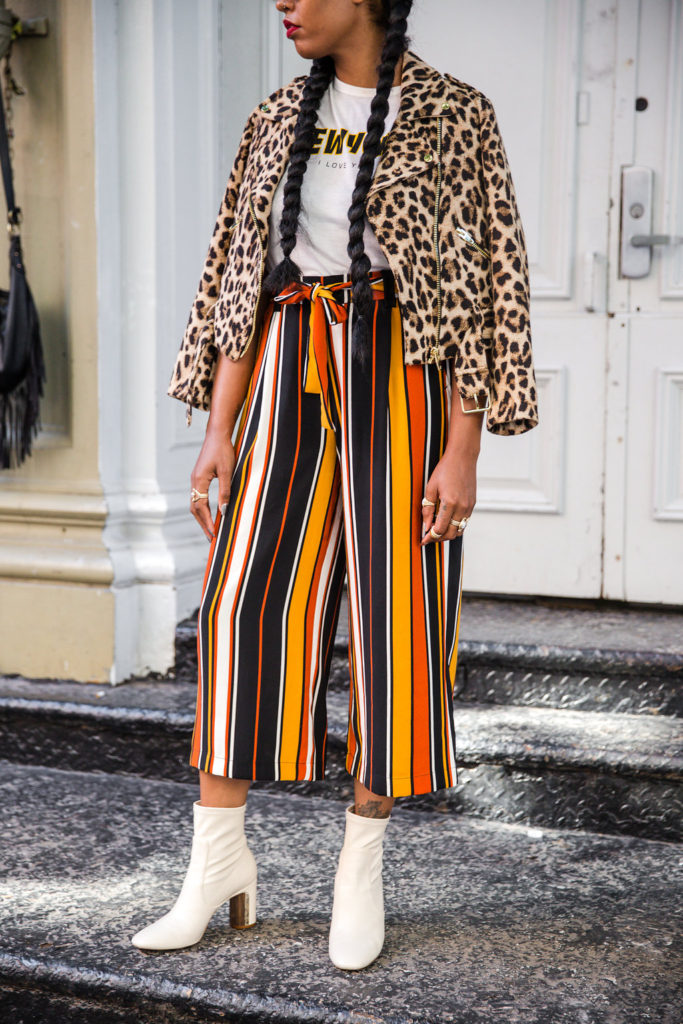 mixed prints for fall zara leopard print moto jacket