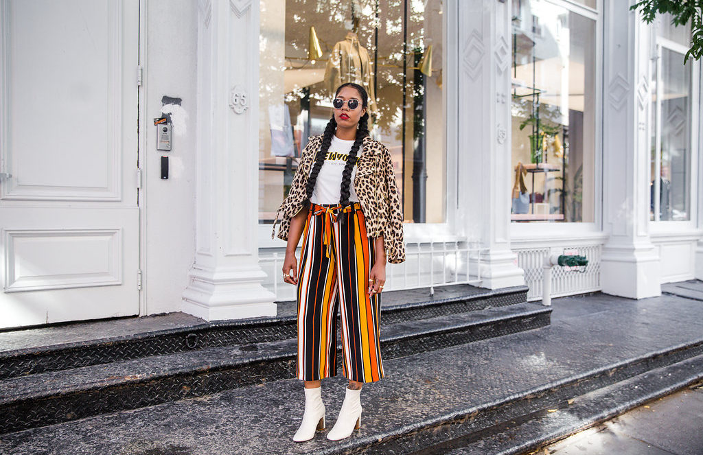 how to mix prints fall 2016 fashion street style
