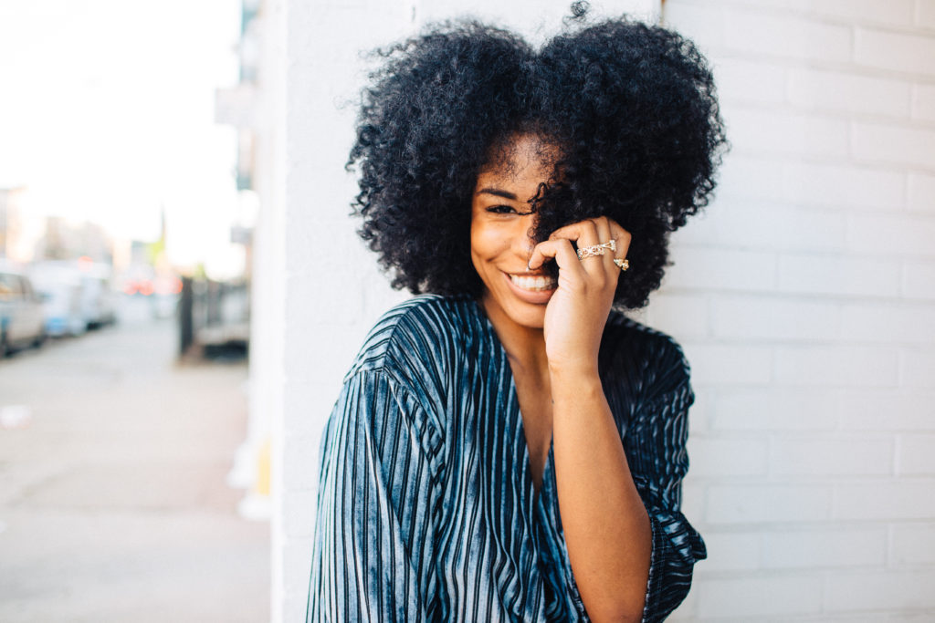 natural hair afro blogger in LA