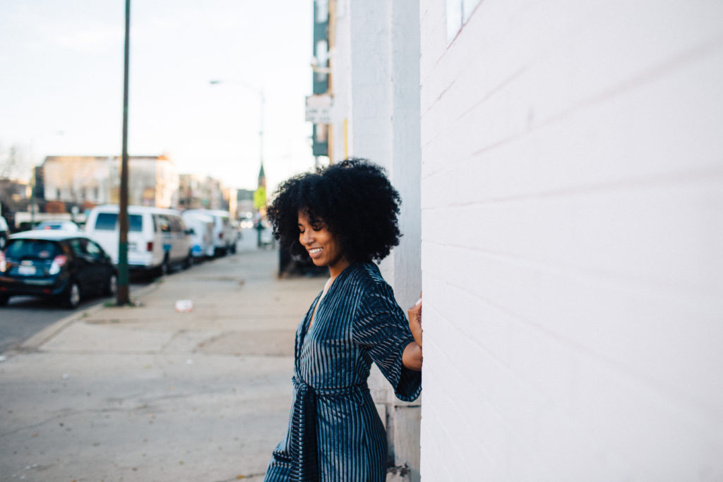 black style natural fashion blogger LA based