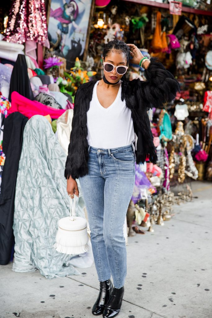 how to wear fringe trend. downtown los angeles fashion blogger