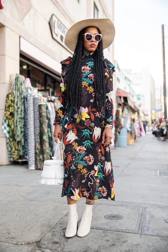 black fashion boho chic los angeles blogger