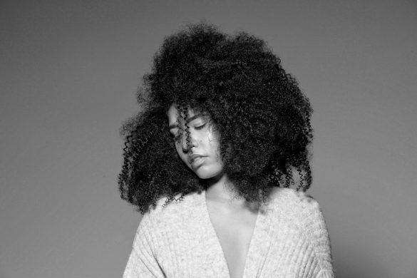 black and white natural hair studio photography alicia keys no makeup shoot