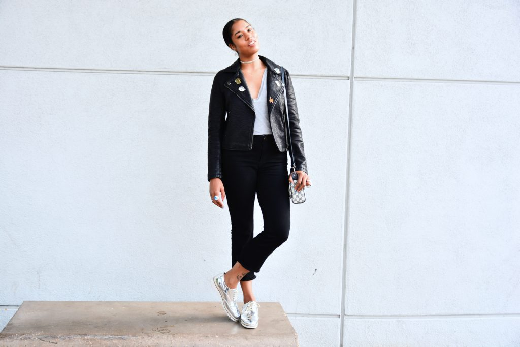 how to style a forever21 leather jacket under $50 with pins