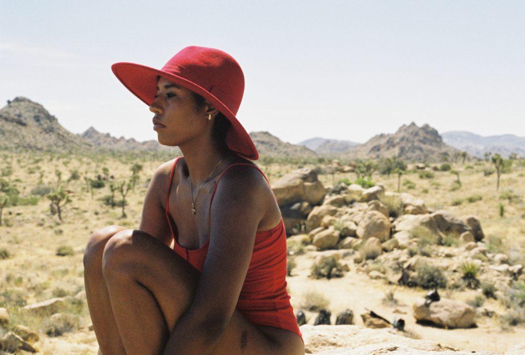 joshua tree blogger photoshoot red body suit los angeles al lifestyle fashion beauty blogger