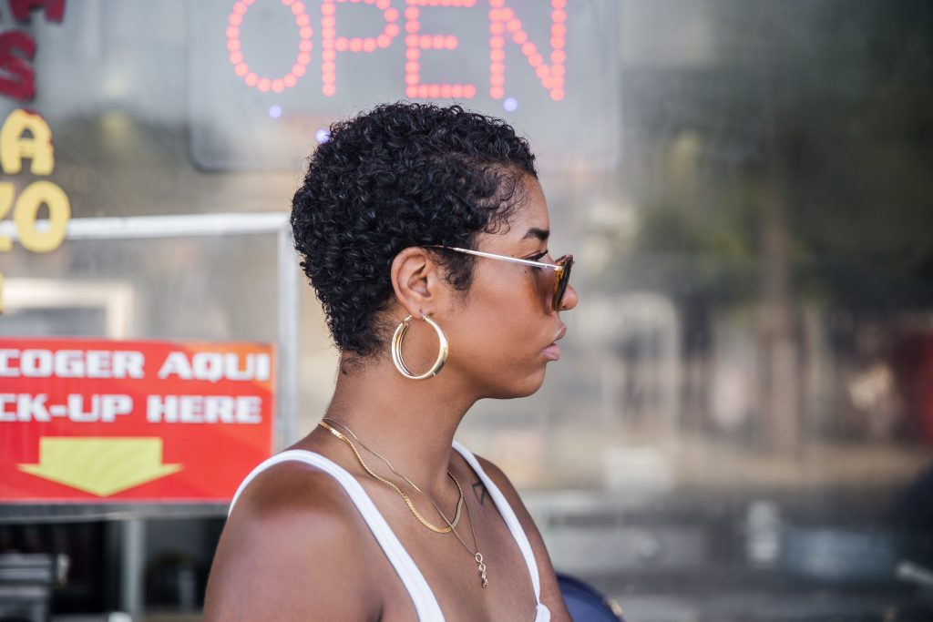 Twa big chop curly natural hair style products