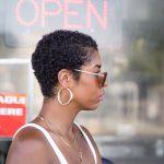 La black hair blogger twa style 3b hair short curly