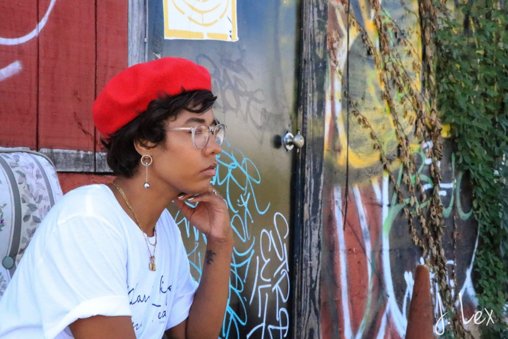 red beret for fall fashion Los angeles black girl style blogger