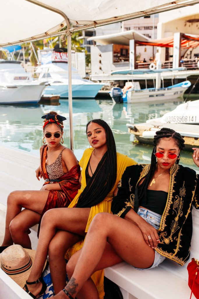 Black girls in Mexico. Building a tribe. Squad goals. Female travel.