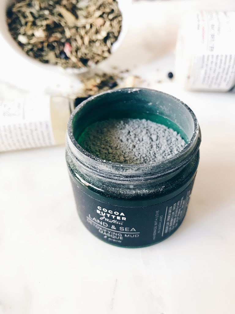 Coco butter mother's clay mask we are onyx box review subscription black owned beauty box skincare regimen do it yourself at home facial