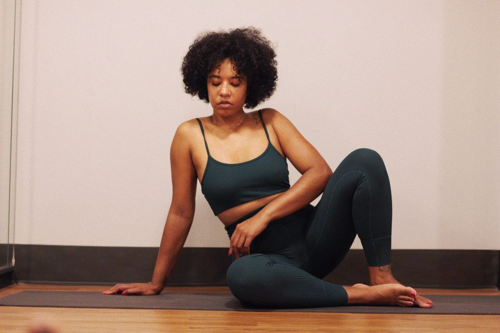 Year of ours workout yoga outfit ribbed cute yoga athleisure clothes. Core power yoga sculp heated yoga review first time. Black girl yoga nyc wellness blogger