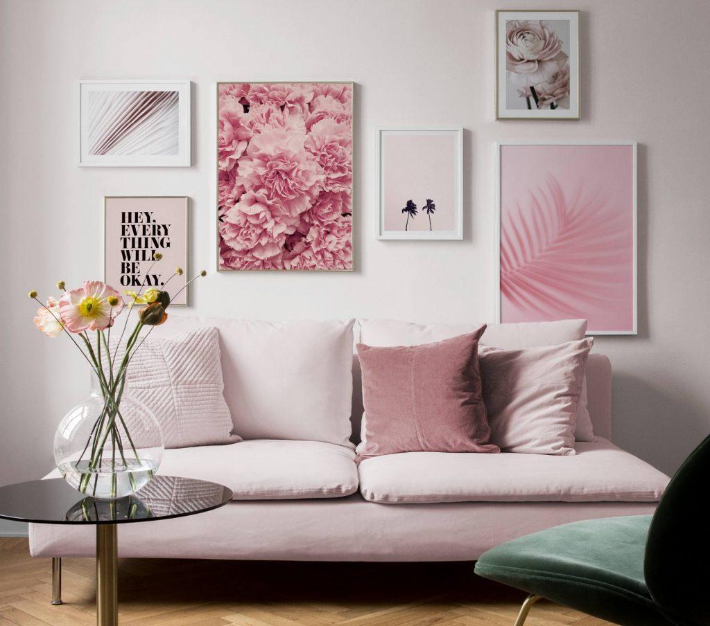 cheap line art minimal apartment decor