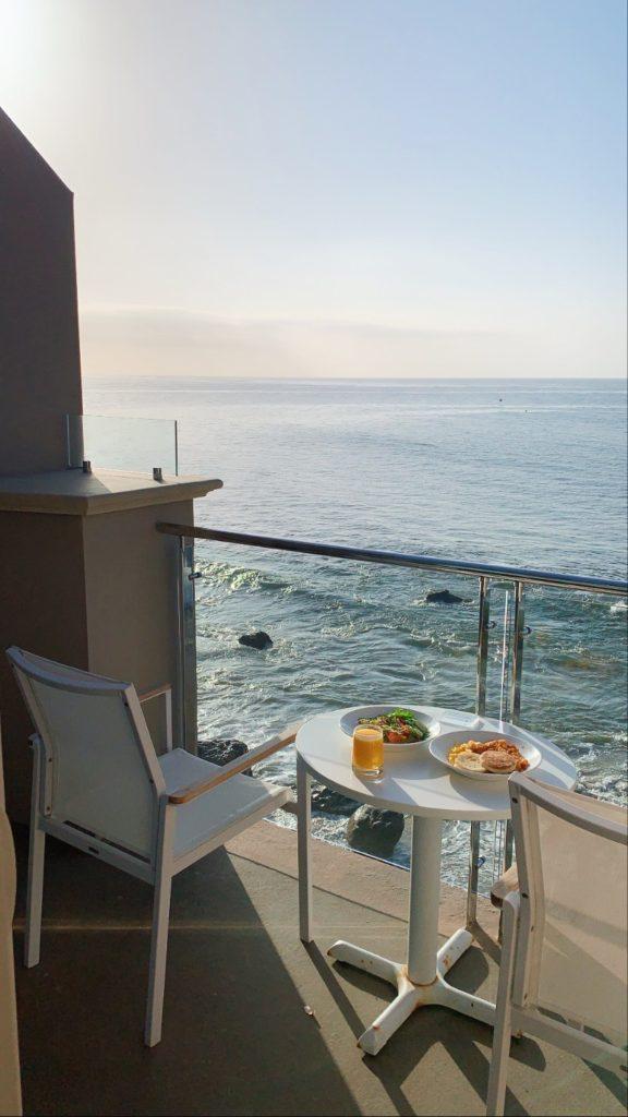 Malibu beach inn where to stay in Malibu, luxury hotel Los Angeles ocean view balcony